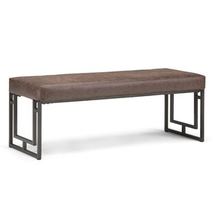 Williston Forge Sunburg Faux Leather Bench