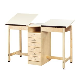 A-Frame Two Station Drafting Table by Shain