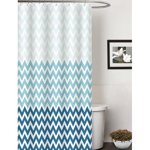 Ebern Designs Belote Contemporary Shower Curtain | Wayfair