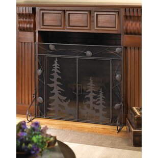 3 Panel Iron Fireplace Screen by Zingz & Thingz