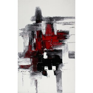 Adah Black/Red Rug by Orren Ellis