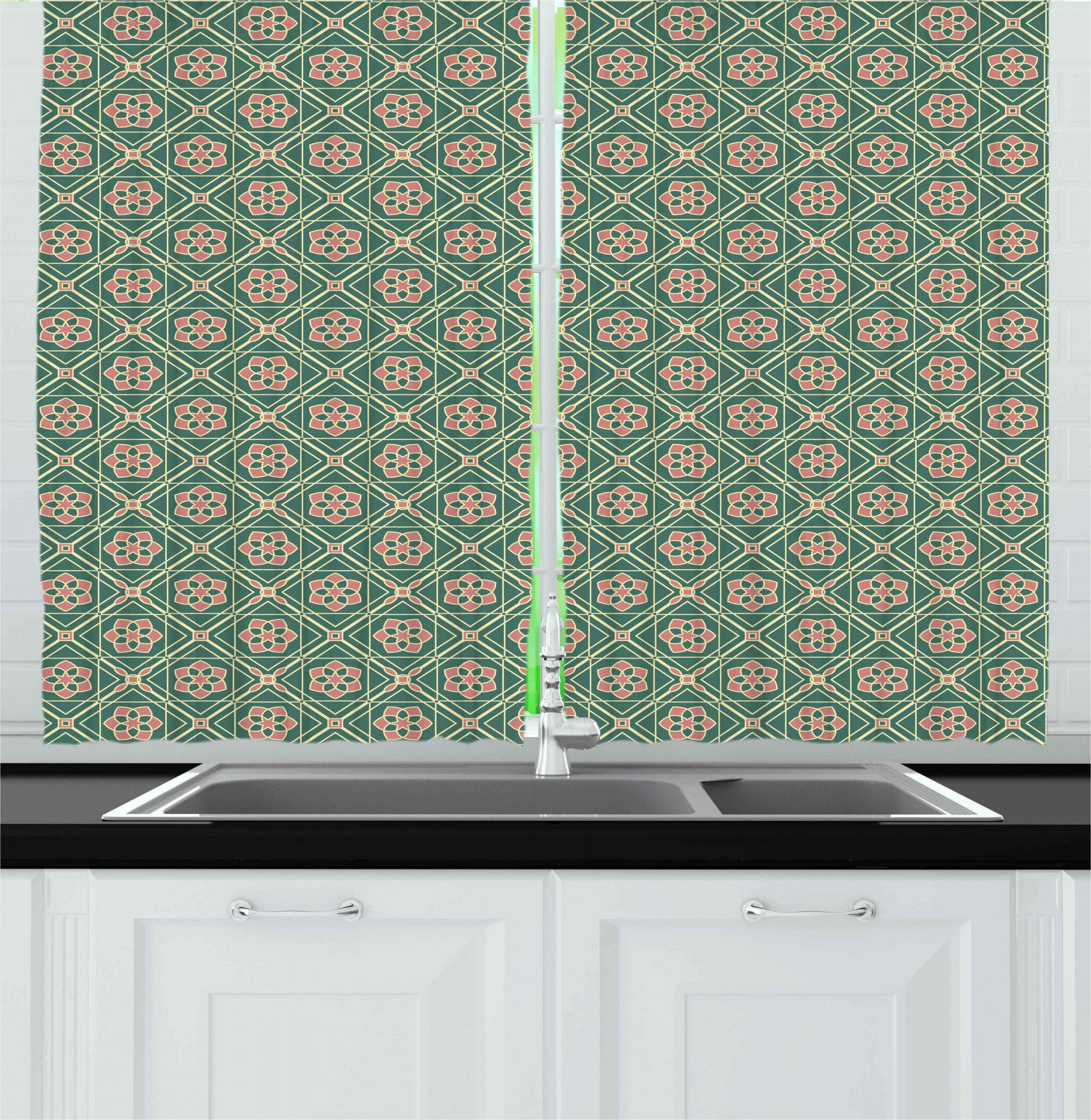 East Urban Home Mandala Kitchen Curtain Wayfair