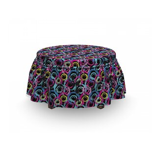 Grunge Spiral Brush Graffiti 2 Piece Box Cushion Ottoman Slipcover Set By East Urban Home