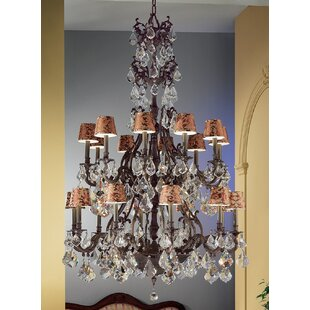 Classic Lighting Majestic 20-Light Shaded Chandelier