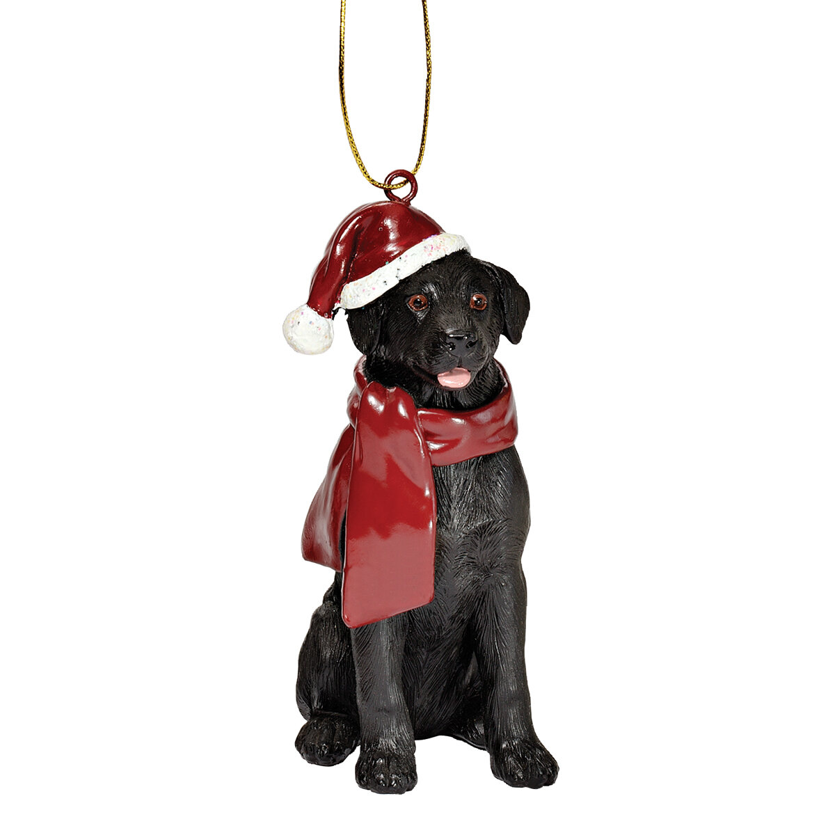 "KURT S ADLER 4.5/"" RESIN SERVICE DOG WORKING DOG CANINE LAB CHRISTMAS ORNAMENT"