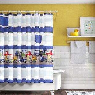 Kaylie Trucks Single Shower Curtain