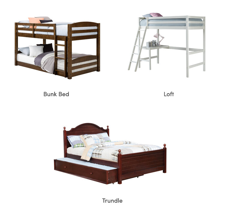 collage of kid bed designs