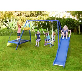 Almansor Trampoline/Slide And Swing Set by Sportspower