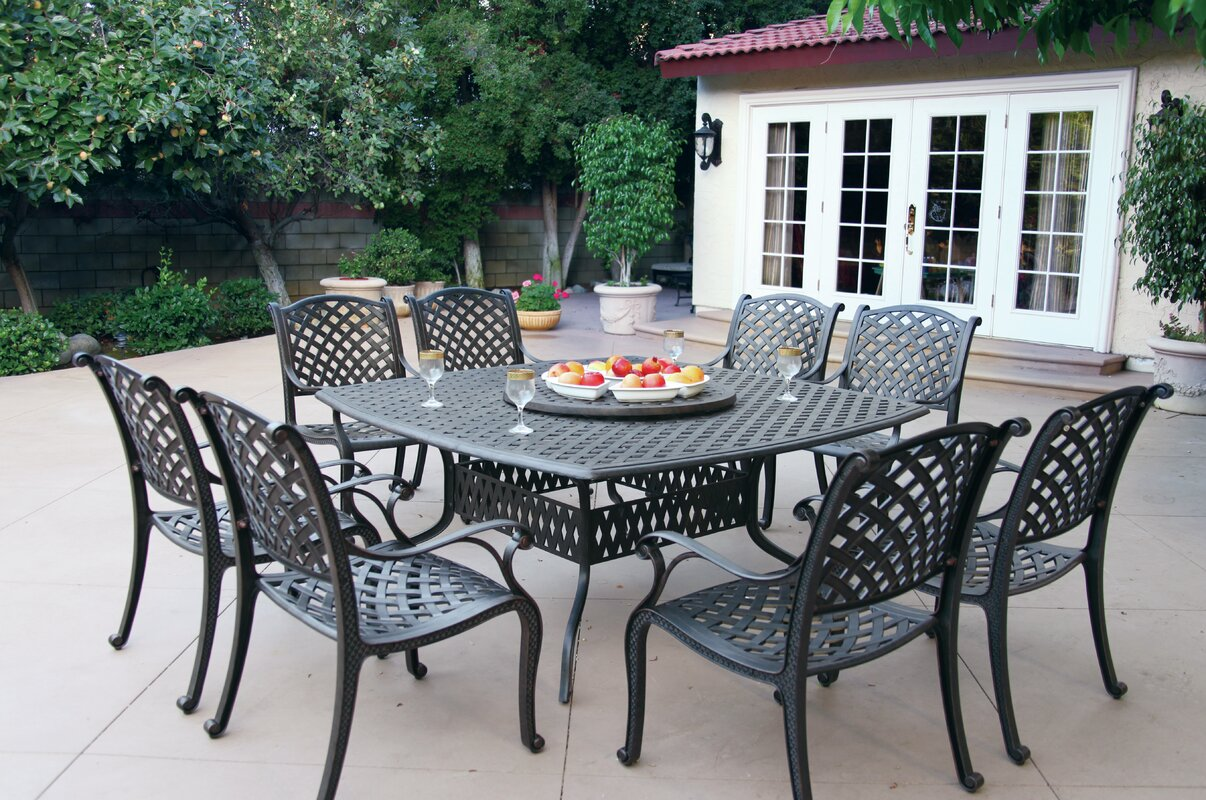 Wonderful Lincolnville 10 Piece Dining Set With Cushion