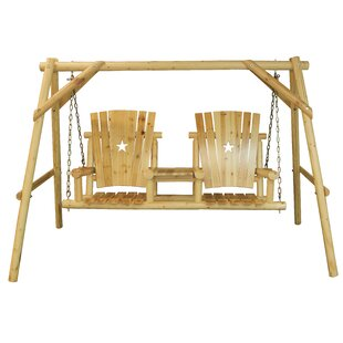 Alaniz Tete-a-Tete Porch Swing with Stand by Millwood Pines