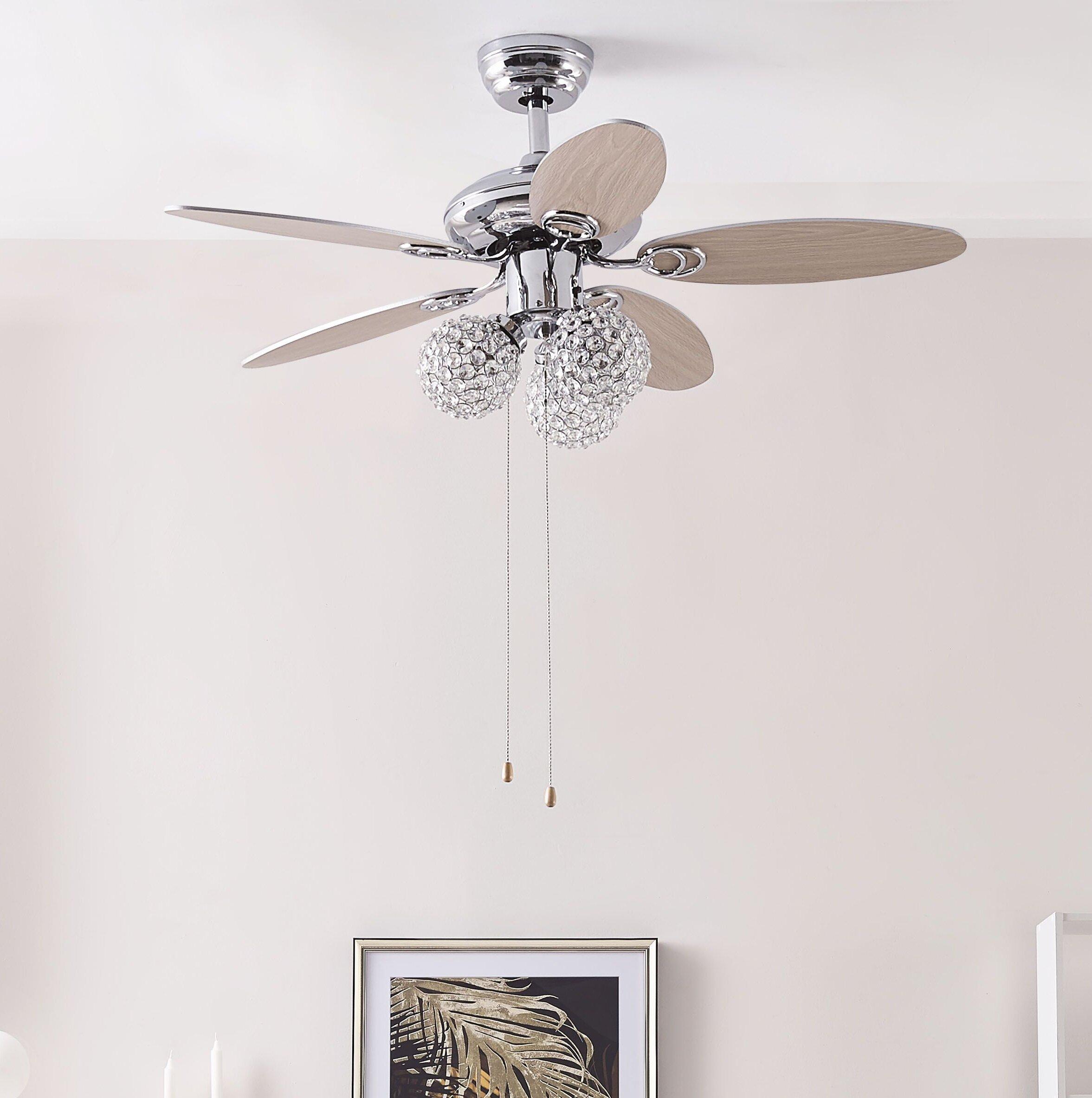 Latitude Run 104cm Thack 5 Blade Ceiling Fan Wayfair Co Uk