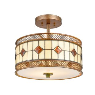 Rhoton 2-Light Semi Flush Mount by Bloomsbury Market
