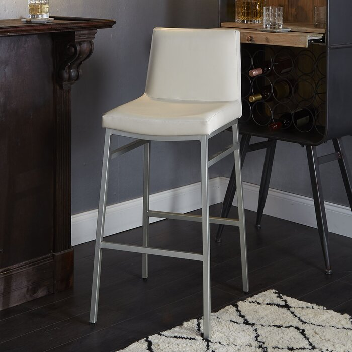 Enjoyable Thurlow Upholstered Square Back Metal 29 Bar Stool Machost Co Dining Chair Design Ideas Machostcouk