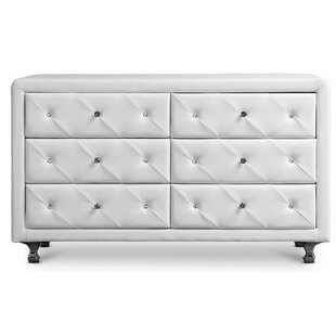 Leighty Upholstered 6 Drawer Dresser