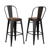 Pardo Solid Wood 30 Bar Stool (Set of 2) by 17 Stories