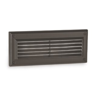 Reviews Endurance Louvered LED Brick Outdoor Flush Mount By WAC Lighting