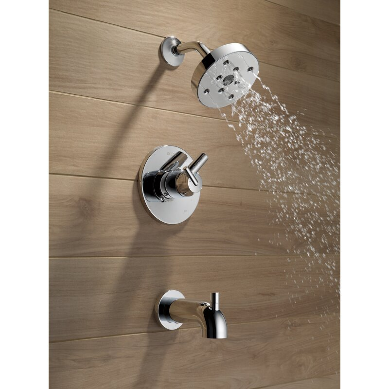 Delta Trinsic Bathroom Faucet Trim with Lever Handle and Monitor ...
