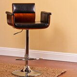 Glenoe Adjustable Height Swivel Bar Stool by Orren Ellis