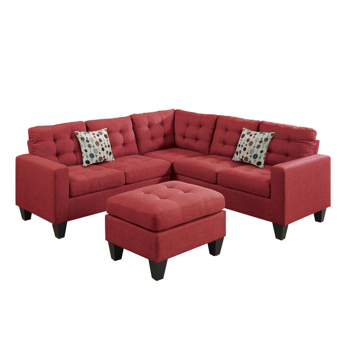Excellent Pawnee Left Hand Facing Sectional With Ottoman Machost Co Dining Chair Design Ideas Machostcouk