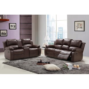 Viraj Reclining 2 Piece Leather Living Ro..