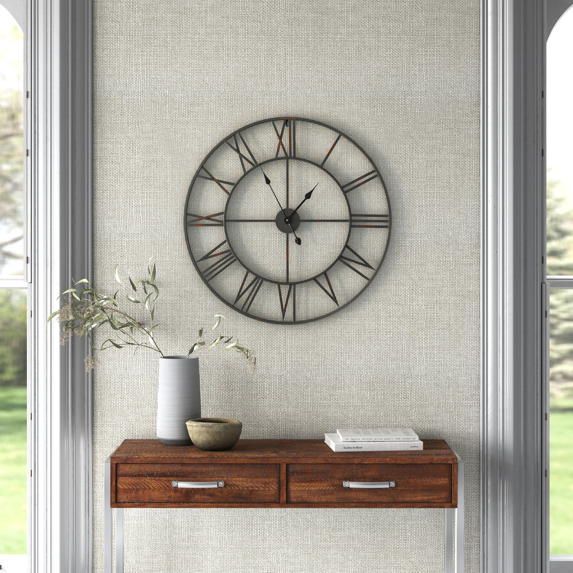 Modern Contemporary Oversized Wall Clocks You Ll Love In 2021 Wayfair