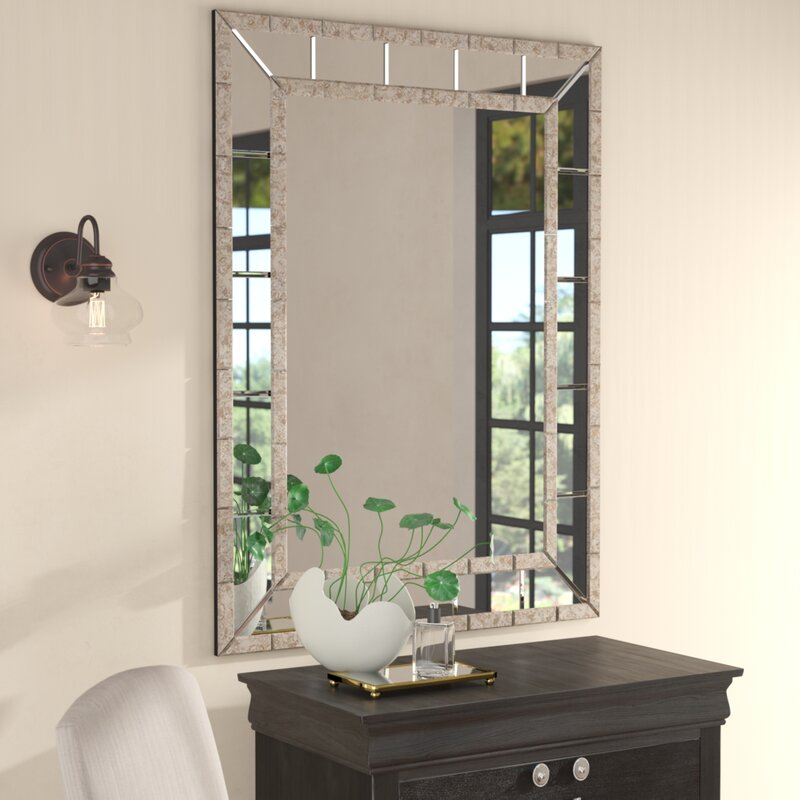 Darby Home Co Beveled Panel Wall Mirror & Reviews | Wayfair