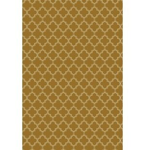 Reviews Fitzgerald Quaterfoil Design Brown/White Indoor/Outdoor Area Rug By Winston Porter