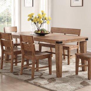 Savings Aon Solid Wood Dining Table ByLoon Peak
