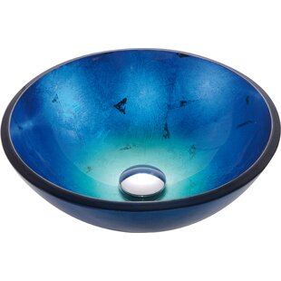 Kraus Irruption Glass Circular Vessel Bathroom Sink