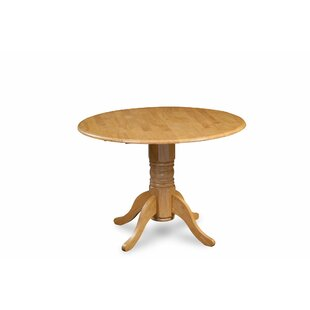Alberta Solid Wood Dining Table Breakwater Bay