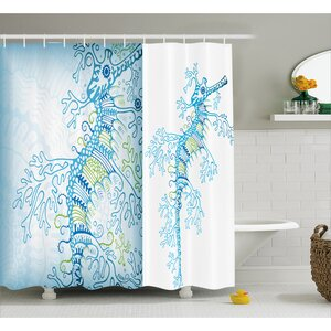 Arabella Ocean Animals Seahorse Shower Curtain Bayou Breeze