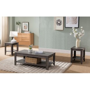 Harcourt Reclaimed Wood Look 3 Piece Coffee Table Set