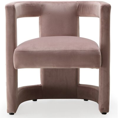 Loren Club Chair Mercer41 Upholstery: Pink