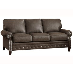 Jacey Leather Sofa by 17 Stories Cheap