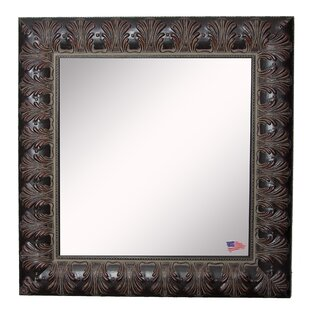 Affordable Price Square Feathered Accent Wall Mirror ByAstoria Grand