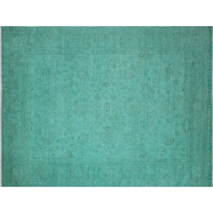 Green overdyed rug Living Room Oneofakind Armas Overdyed Handknotted Teal Green Area Rug Etsy Green Overdyed Rug Wayfair