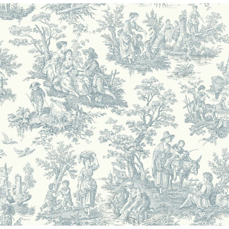 York Wallcoverings Waverly Country Life 33 X 205 Toile Wallpaper