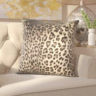 Lichfield Faux Leopard Throw Pillow