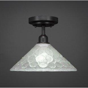 Williston Forge Kash 1-Light Cone Shade Semi-Flush Mount
