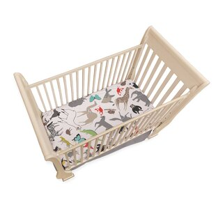 Find Animal Fitted Crib Sheet By Where the Polka Dots Roam