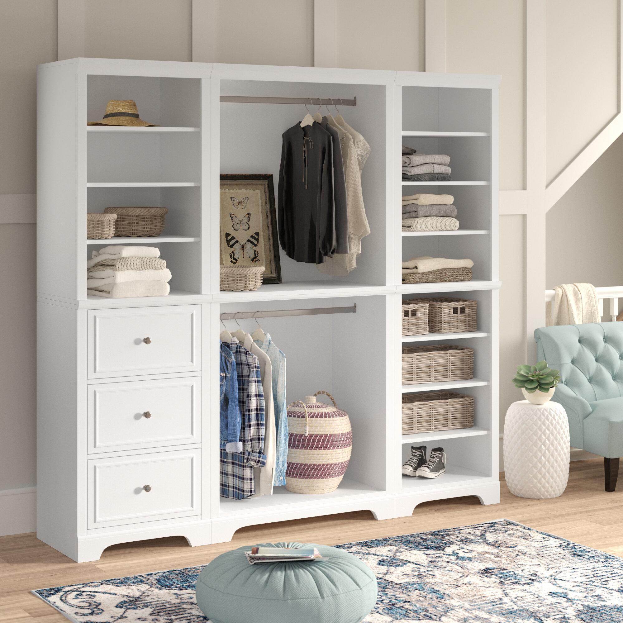 Three Posts Mickelsen 86 W Freestanding Closet System