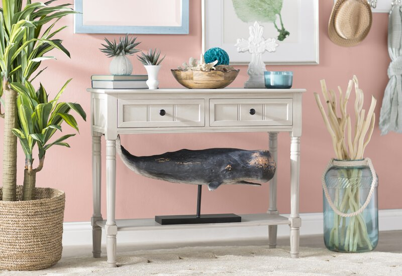 Beachcrest Home Manning 2 Drawer Console Table & Reviews | Wayfair