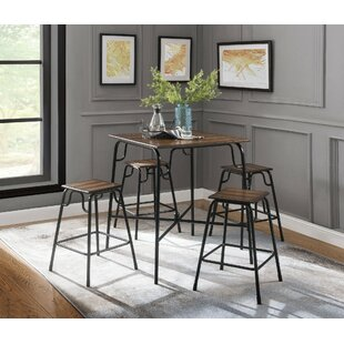 Smith 5 Piece Counter Height Dining Set by Union Rustic