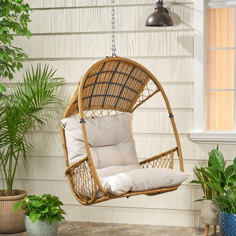 Bayou Breeze Berkshire Swing Chair With Cushion Reviews Wayfair