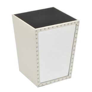 Three Hands Co. Mirrored Studded Trash Can