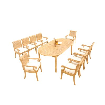 Massenburg 11 Piece Teak Dining Set by Rosecliff Heights Wonderful