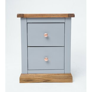 Connelly 2 Drawer Bedside Table By August Grove