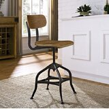 Delilah Adjustable Height Swivel Dining Stool by Williston Forge