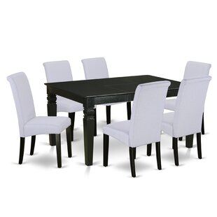 Parada Table 7 Piece Extendable Solid Wood Dining Set Charlton Home