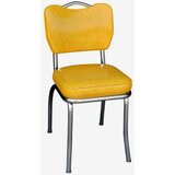 Retro Home Upholstered Side Chair in Chrome by Richardson Seating